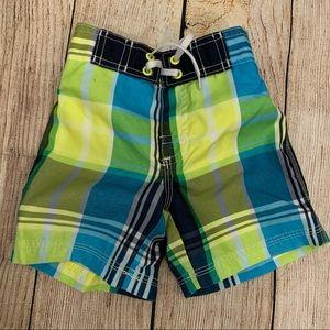 Gymboree boys swim trunks